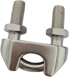 Baosity 2mm 304 Stainless Steel Wire Rope Clip Clamp Saddle Clips U Fastener