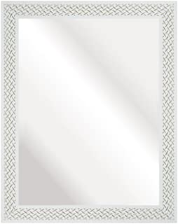Espelho Decorativo, 37x47 cm, Branco Riscado, Kapos