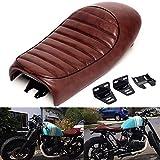 Triclicks Motorcycle Cafe Racer Seat Hump Vintage Saddle Cushion for Suzuki GS Yamaha XJ Honda CB
