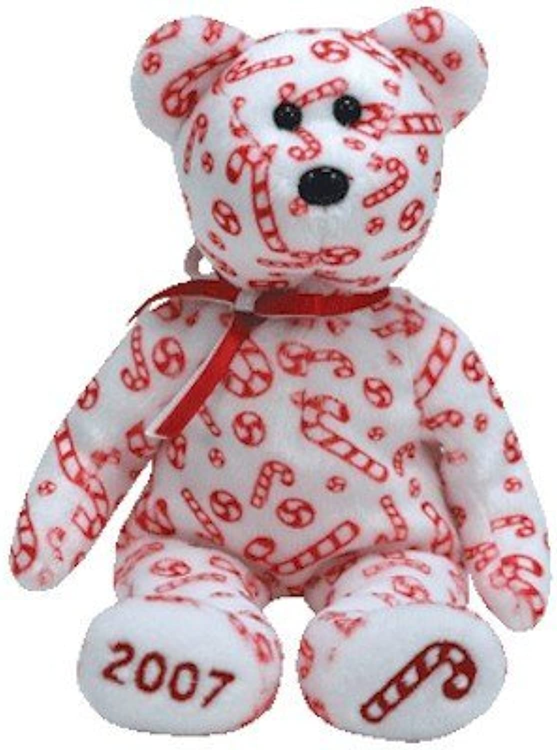 Ty Beanie Babies Candy Canes  Bear White (Hallmark Exclusive)