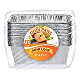 Aluminum Pans Mini Loaf Pans (20 Pack) - Disposable Aluminum Foil 1lb. Small Bread Baking Pans, 6' X 3.5' X 2