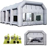 Sewinfla Inflatable Paint Booth 30x20x13Ft with Blowers Professional Inflatable Spray Booth Portable Car Painting Booth Tent for Car Garage Upgrade More Durable with Air Filter System
