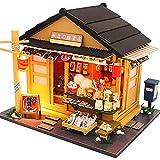 ZIXUAL Miniatura de la casa de muñecas con Muebles, Kit de muñecas de Madera de Bricolaje más a Prueba de Polvo y Movimiento de música, 1:24 Idea de la habitación Creativa