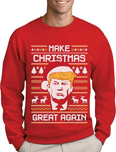 Ugly Christmas Sweater Make Christmas Great Again Sweatshirt Homme Medium Rouge