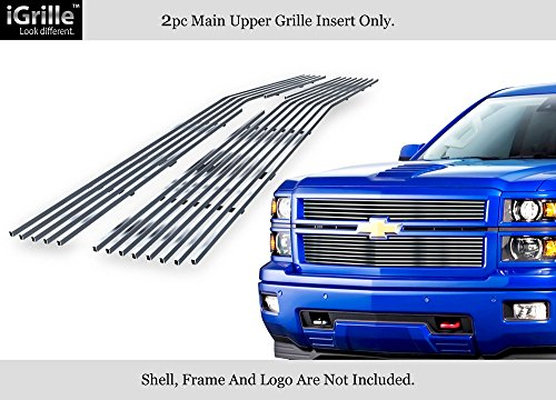 APS Compatible with 2014-2015 Chevy Silverado 1500 Stainless Steel Billet Grille N19-S05956C