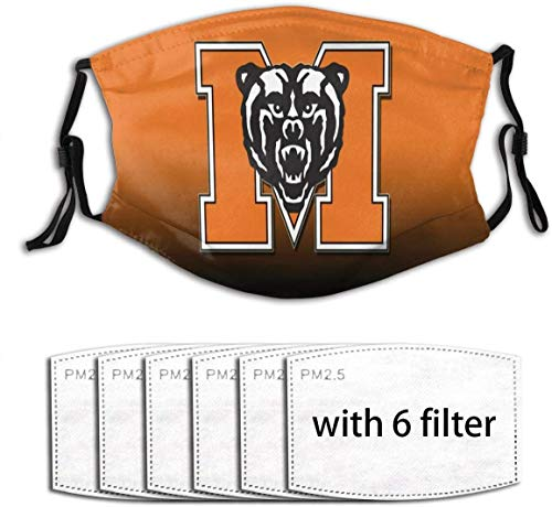 UUUK Mercer Bears - Protector bucal para exteriores, bandana al aire libre, bufanda a prueba de polvo, pasamontañas, manguito de cuello With6 Filtro, talla única
