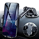 DesertWest [2020 Upgrade] Universal Car Phone Mount, Cell Phone Holder for Dashboard Windshield Air Vent, Long Arm Compatible with SE 11 Pro Max XR XS X Samsung Galaxy Note 20 S20 S10 S9
