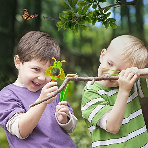 ESSENSON Bug Catcher Kit, Outdoor Toy Gift for 3 4 5 6 7 8+ Year Old Boys Girls Kids, 2 Pcs Critter Cage Butterfly Bug House, Outdoor Explorer Kit with Whistles for Backyard Exploration