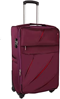 Trolley Cabin Suitcase with 4 Wheels,Lightweight Travel Boarding Case 20-inch (Color : Wine red, Size : 20-inch)