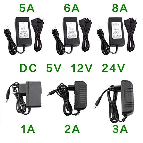 NOBRANG LSGK Netzteil DC 5V 12V 24V 1A 2A 3A 5A 6A 8A Power Supply Adapter DC 5 12 24 V Volt Stromversorgung Adapter Beleuchtung LED Streifen-Lampe (Color : 1A, Output Voltage : 5V)