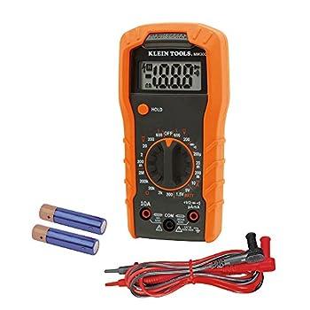 Klein Tools MM300 Mulimeter Digital Manual-Ranging Voltmeter Tests Batteries Diodes and Continuity 600V
