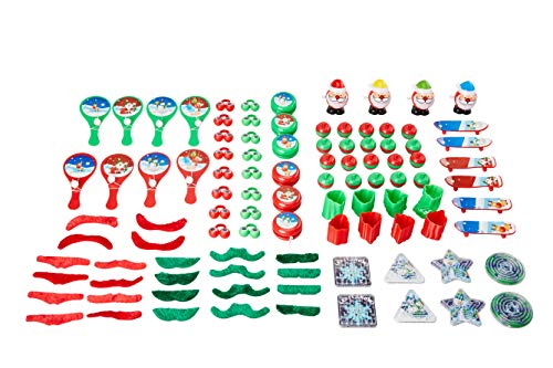 Christmas Toys Party Pack  100Piece Assorted Holiday Party Favors Kids Novelty Goodie Gift Bag Stocking Stuffers Classroom Game Prizes for Boys and Girls