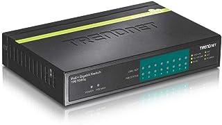 TRENDnet 8-Port Gigabit PoE+ Switch, 123 W PoE Power Budget, 16 Gbps Switching Capacity, Metal housing, Lifetime Protectio...