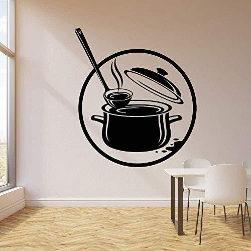 Adesivi murali Wall Art Cucina Pentola Cottura Zuppa Vinile Accessori per ristoranti domestici 42X48 cm
