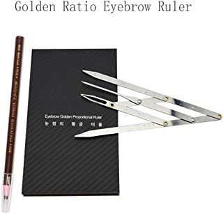 BMX Golden Ratio Calipers Microblading Eyebrow Ruler with Flexible Removable Reusable Stainless Steel Ruler Eyebrow Calipers Measure Tools 1PCS Eyebrow Pencil Microblading Free with Random Color