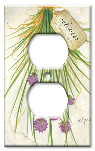Outlet Cover Wall Plate - Chives