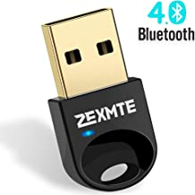 ZEXMTE Updated Driver Bluetooth Adapter for PC USB Bluetooth Dongle 4.0 Wireless Micro Adapter Compatible with Windows 10 8.1 8 7 Vista XP, for Desktop, Laptop