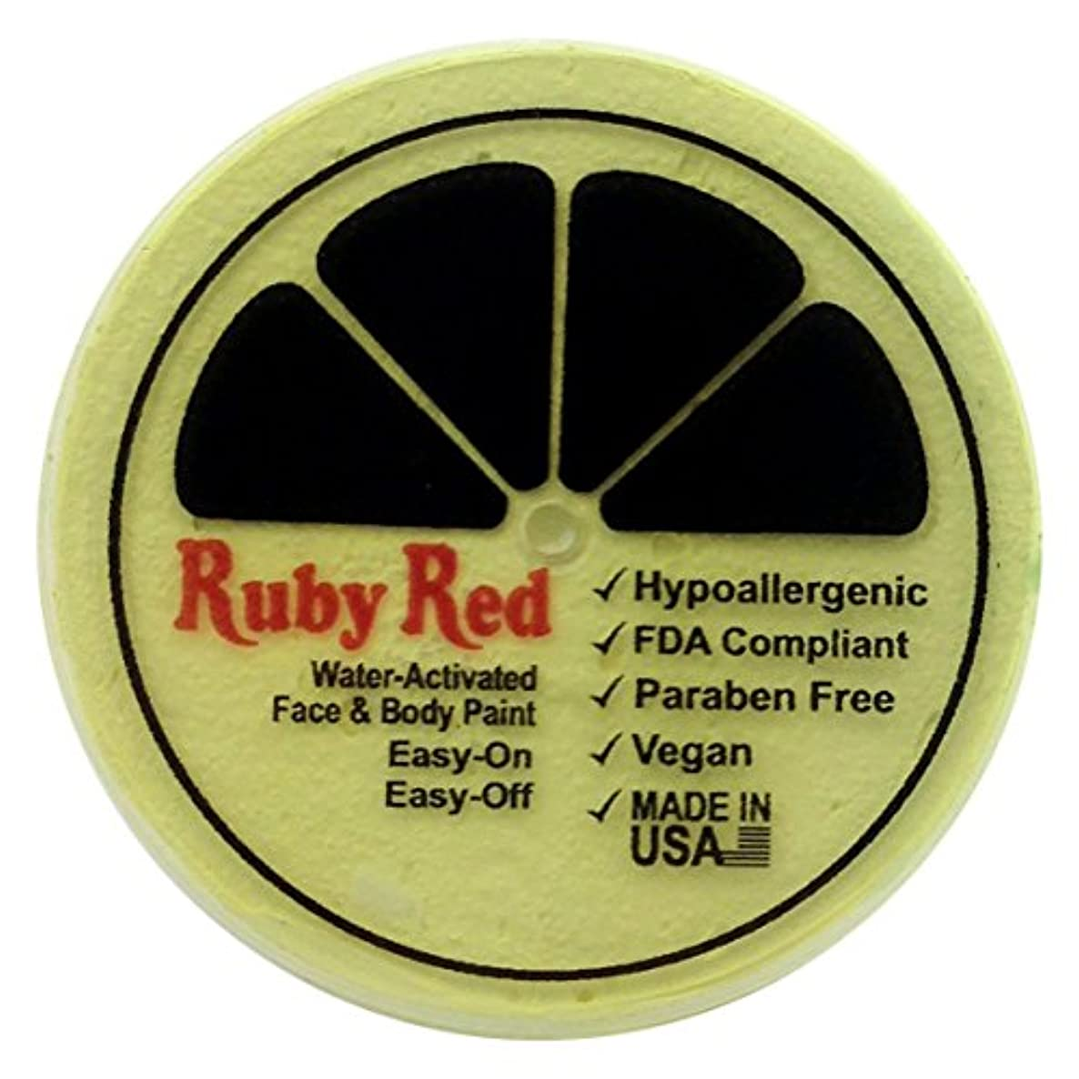 Ruby Red Paint Face Paint, 75ML - Pastel Yellow