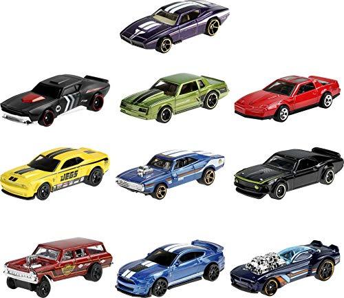 Hot Wheels GTD79 - Spielzeugauto Geschenkset, 10er Set Muscle Mania [Exklusiv bei Amazon]