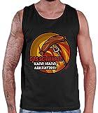 Hariz - Camiseta de tirantes para hombre, diseño con texto en alemán 'Das Schwarze kann Mann abkratztzen Grill' Negro S