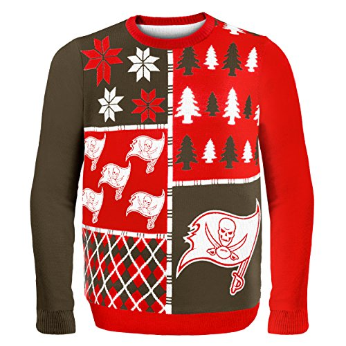 NFL Tampa Bay Buccaneers BUSY BLOCK Ugly Sweater, X-Large