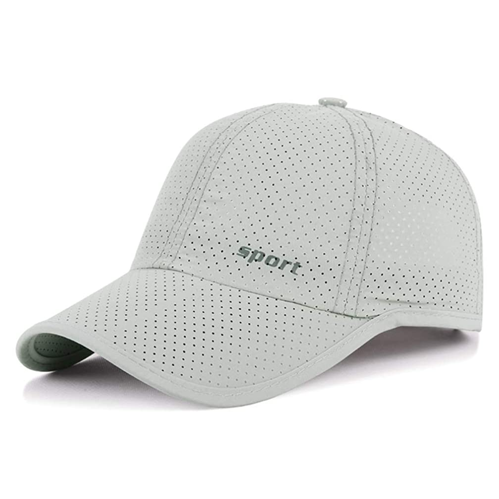 LDDENDP Summer New Breathable Perforated Quick-drying Cap Men and Women Outdoor Ultra-thin Sunscreen Fishing Sunscreen Baseball Cap Riding Travel Sports Cap UV Protection UPF 40+ Adjustable Mesh Hat