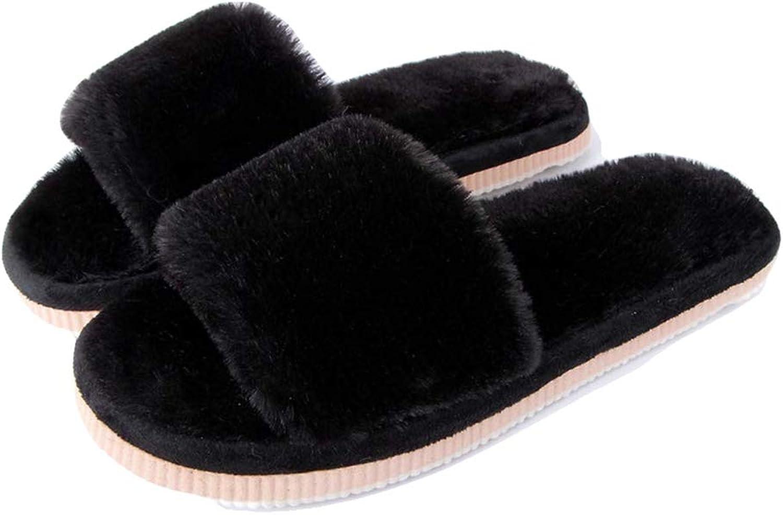 York Zhu Womens Girls Fruffy Slippers,Memory Foam Plush Slip On Indoor House shoes