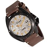Stauer Men's Meteorite Watch with Genuine Brown Leather Band