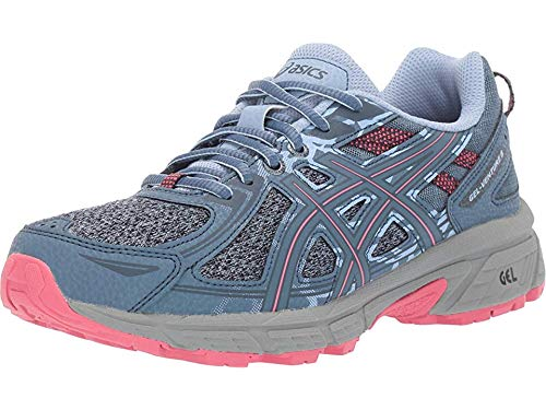 ASICS Women's Gel-Venture 6 MX Running Shoes, 7.5M, Steel Blue/Pink Cameo