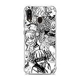 Transparent Slim Liquid Flexible Fundas Soft Case Back Cover for Samsung Galaxy A10e/A20e-Anime Himiko-Toga Smile 8