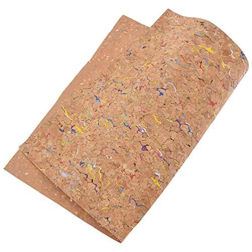 Kesheng A4 Korkstoff Korkleder Farbig für Nähen Basteln Tasche DIY 29 x 21 cm