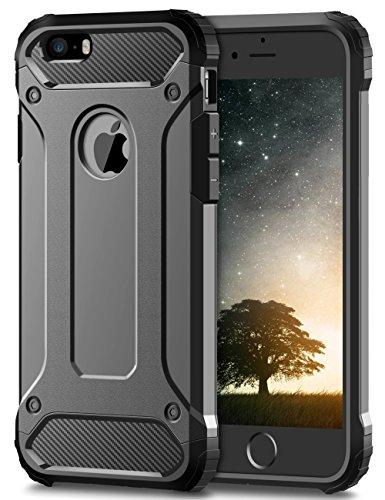 Coolden iPhone 6S Hülle, Premium [Armor Serie] iPhone 6 Outdoor Stoßfest Handyhülle Silikon TPU + PC Bumper Cover Doppelschichter Schutz Hülle für iPhone 6/6S (Grau)