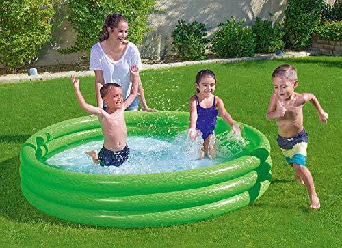 Waech Bestway 51027 - Piscina/piscina gonfiabile, rotondo, 3 pezzi, 1,83 x 0,33 m, colore: Verde