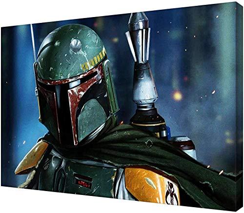 Star Wars, poster di Star Warrior, con immagine di Star Wars, immagine decorativa, su tela, per soggiorno, camera da letto, pittura, senza cornice (60 x 80 cm)