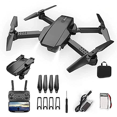 rzoizwko Drohne, Faltbare Drohne FPV WiFi 120deg;4K-HD-Weitwinkelkamera, Flugbahn, Höhenlage, Headless-Modus, HD-Videoübertragung, Drohne für Erwachsene und Anfänger, 2 modulare Batterien
