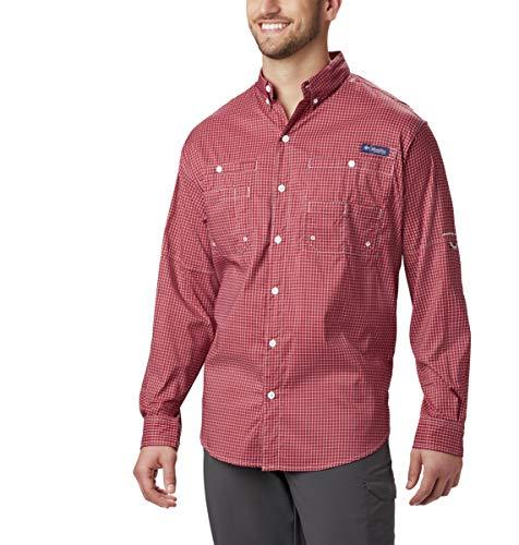 Columbia Sportswear Men's Super Tamiami Long Sleeve Shirt, Beet Gingham, Medium