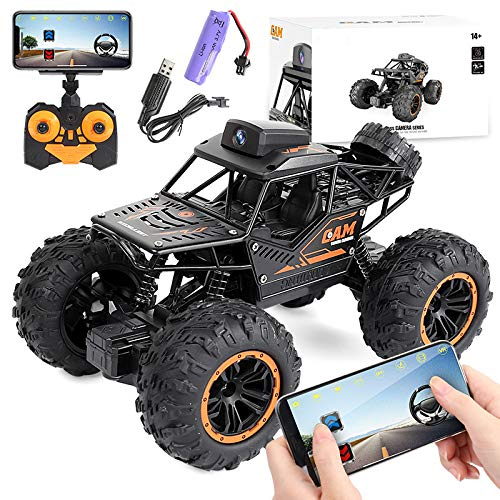RC Car Remote Control Car with 720P HD FPV Camera, 1/18 Scale Off-Road Remote Control Truck Gravity Sensor Rc Truck, High Speed Monster Trucks for Kids Adults Gift for Boys and Girls