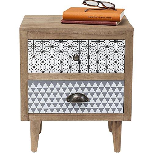 Kare Design Kommode Capri, kleine Nachtkommode, Nachttisch, Nachtkästchen, Nachttischen, Beistelltisch mit 2 Schubladen, (H/B/T) 40x50x30cm