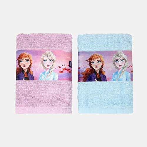 Juego de toallas Frozen II – lila y azul
