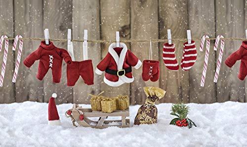 TAPPETIK Tappeto Natalizio, Passatoia in Stampa Digitale Natale Alta qualità, Ampia Gamma di Colori e Disegni (Serie Digit Natale) - Disegno Natale 6 (52x190 cm)