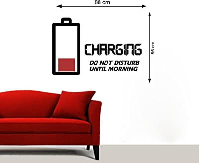 Creatick Studio 'Wall Stickers for Bedroom Kitchen' Human Battery' Creatick Studio 'Wall Stickers for Bedroom Kitchen' (PVC Vinyl, 88CM X 56CM)