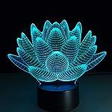Luz de Noche de Lotus Que Cambia de Color Luces de Navidad botón táctil iluminación de Sala de Estar