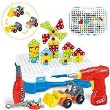 SYOSIN Mosaico Juguete Taladro 325 Piezas Puzzle 3D Mosaico Desmontar Juguetes educativos de Bloques de construcción Taladro de Juguetes para niños
