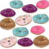 """5"""" Donut Plush Toys - Pack of 12 Donut Pillows with Sprinkles - Mini Donut Cushions - Colorful Donut Plush Pillows - Party Favor Donut Ring Pillows - Donut Birthday Party Decorations by Playko"""