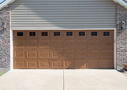 Giani Decorative Magnetic Garage Door Window Panes Weather-Resistant & Ultra Strong, 2 Car, Black
