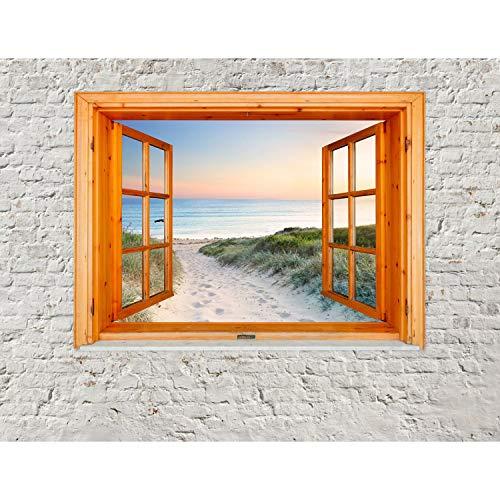 Fototapeten Fenster zum Strand Meer 352 x 250 cm Vlies Wand Tapete Wohnzimmer Schlafzimmer Büro Flur Dekoration Wandbilder XXL Moderne Wanddeko - 100% MADE IN GERMANY - Runa Tapeten 9211011c