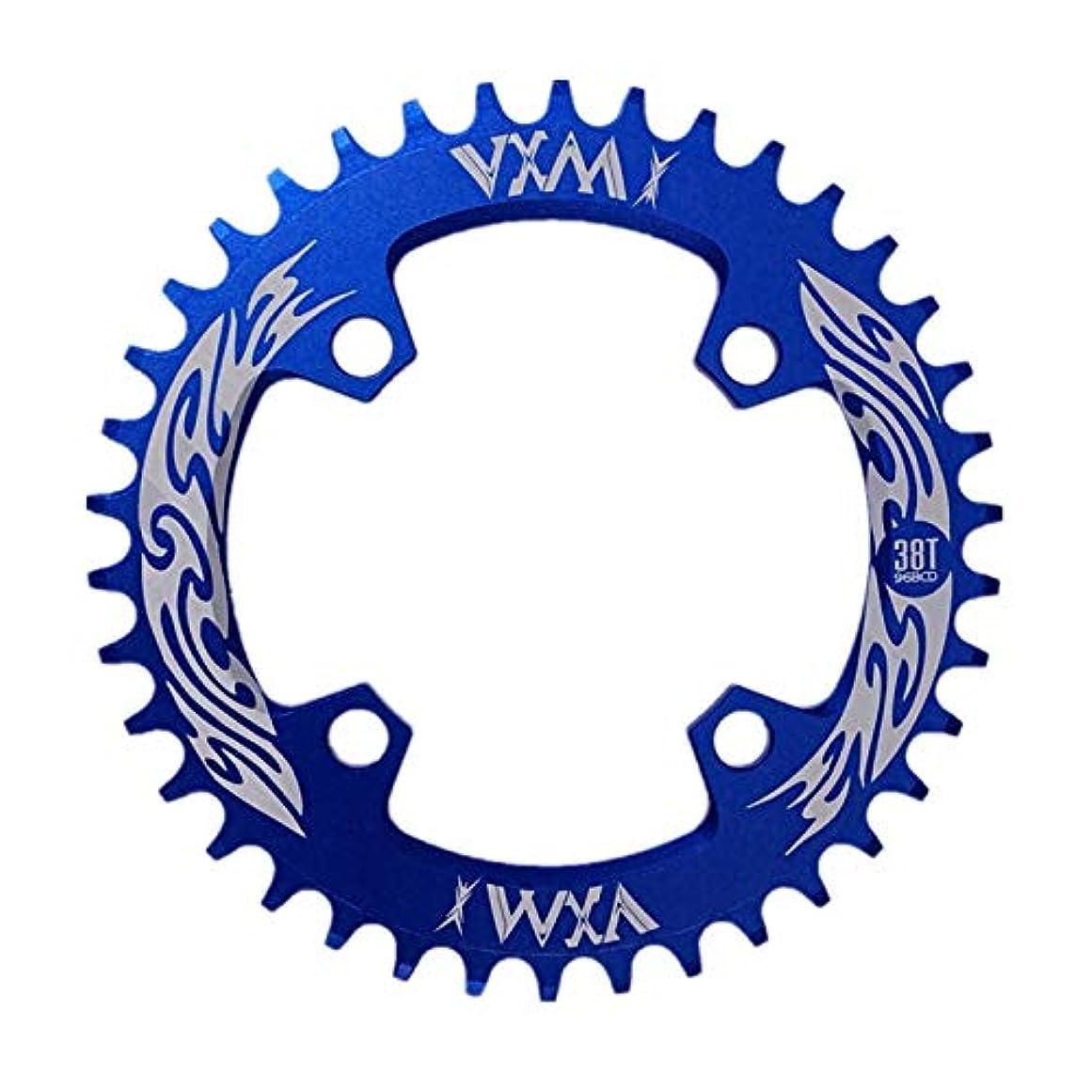 反対した偶然の祝福Propenary - Bicycle Crank & Chainwheel 96BCD 38T Ultralight Alloy Bike Bicycle Narrow Wide Chainring Round Chainwheel Cycle Crankset [ Blue ]