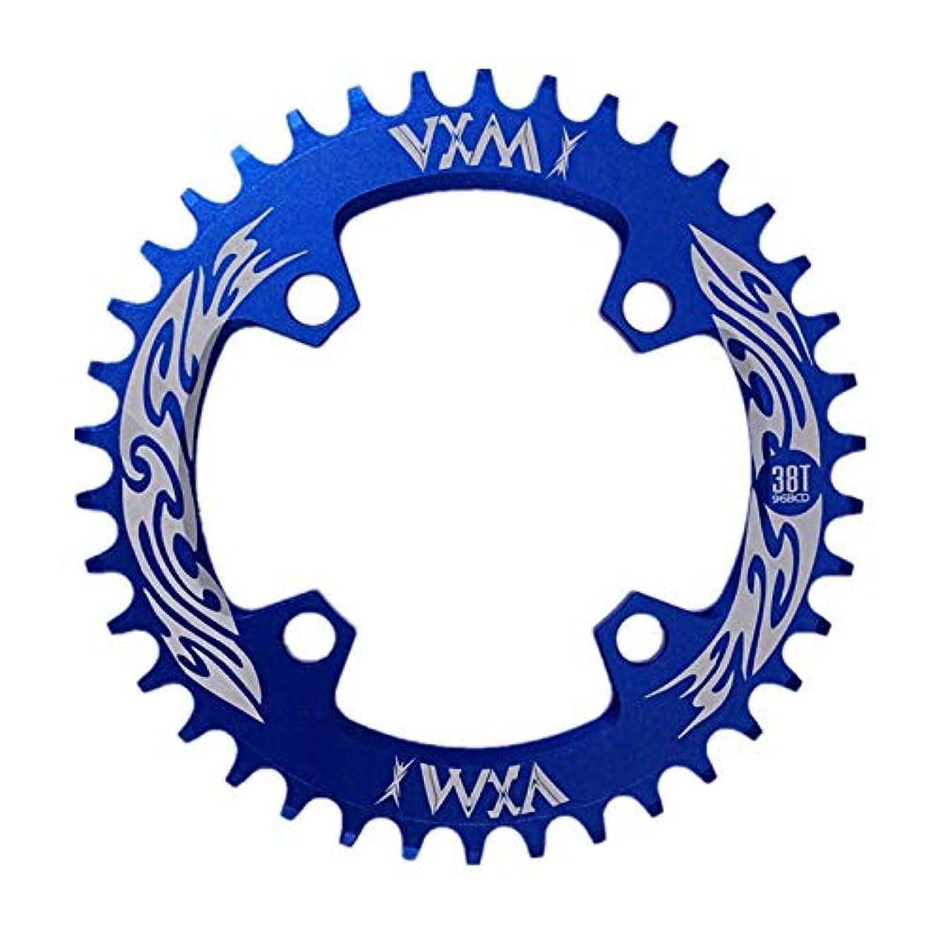 下線コメントストライクPropenary - Bicycle Crank & Chainwheel 96BCD 38T Ultralight Alloy Bike Bicycle Narrow Wide Chainring Round Chainwheel Cycle Crankset [ Blue ]