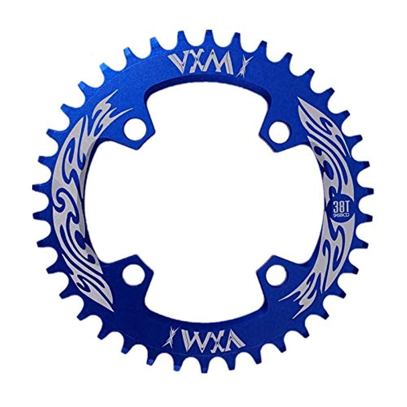 磁石過度に重要なPropenary - Bicycle Crank & Chainwheel 96BCD 38T Ultralight Alloy Bike Bicycle Narrow Wide Chainring Round Chainwheel Cycle Crankset [ Blue ]