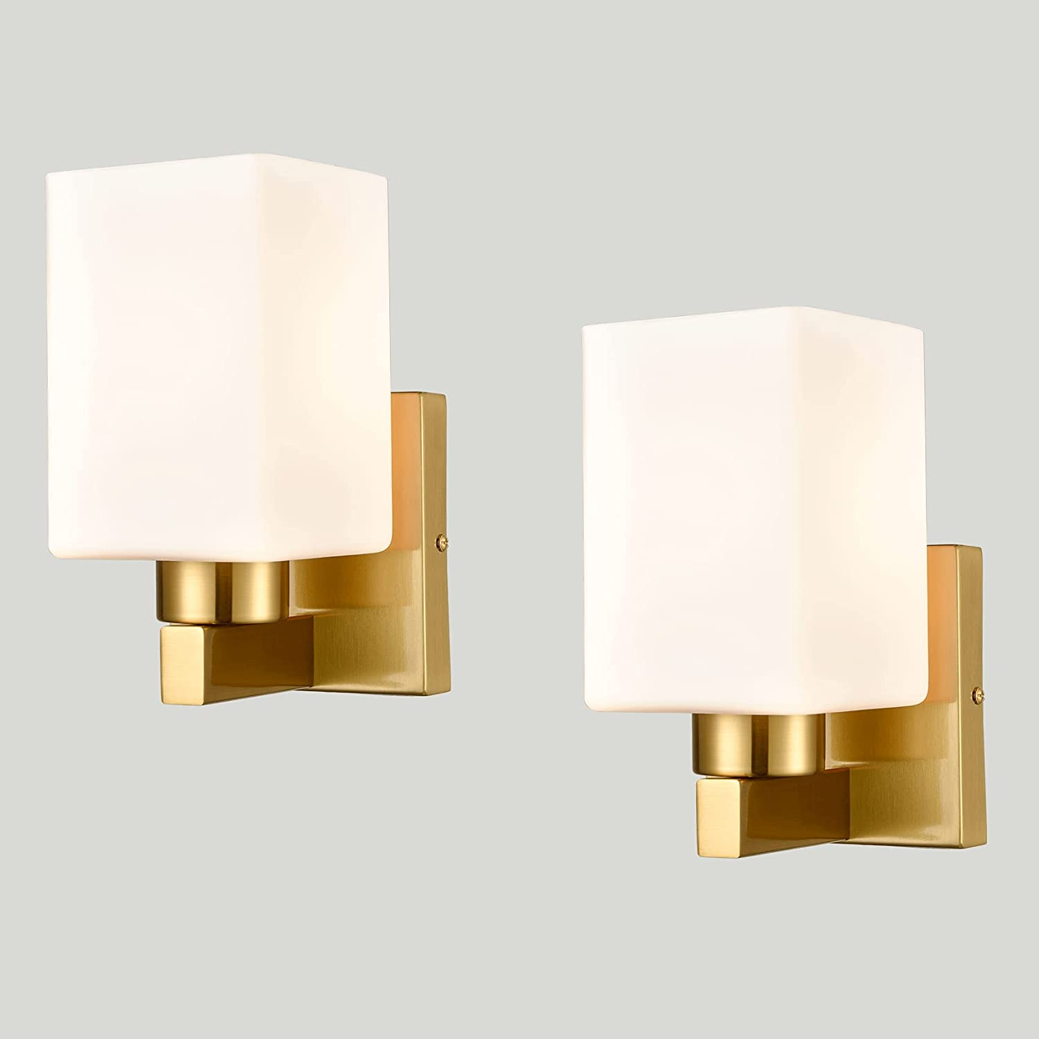 DEYNITE 2-Pack Limited time Lowest price challenge cheap sale Brass Wall Sconce Modern Fixtures Light Bathroom